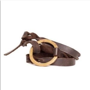 Fair Trade Upcycled Artillery Leather Bracelet